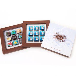 snowman chocolate box