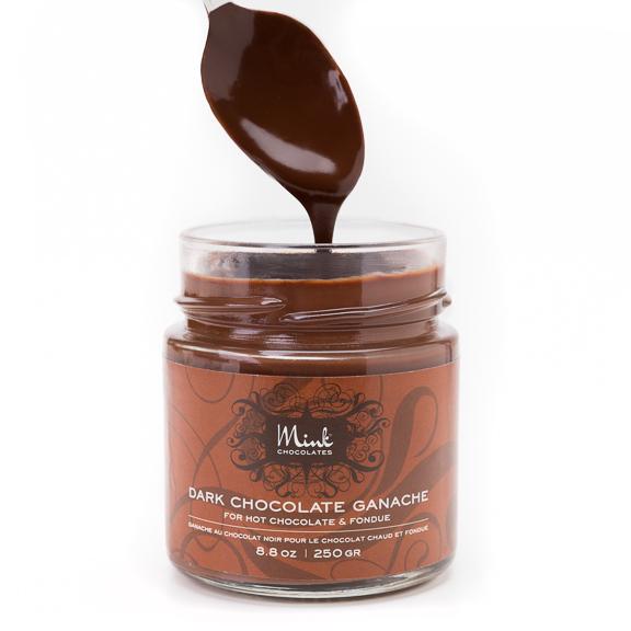 Pure milk or dark chocolate ganache