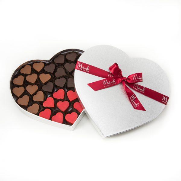 heart shaped chocolate box