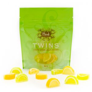 Lime and lemon jelly wedges