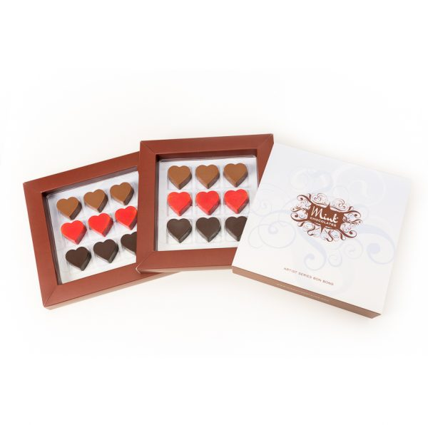box of chocolate hearts